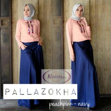 pallazokha by khazana btari peach pink navy