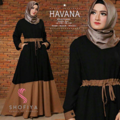 Havana Dress Black Mocca