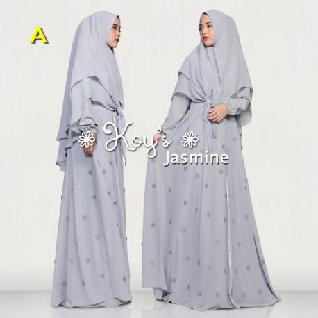 Jasmine Syari A Baju Muslim Gamis Modern