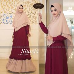 Shazfa by alisya hijab Maroon Cream