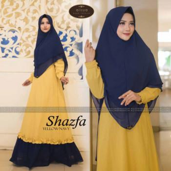 Shazfa by alisya hijab Yellow Navy