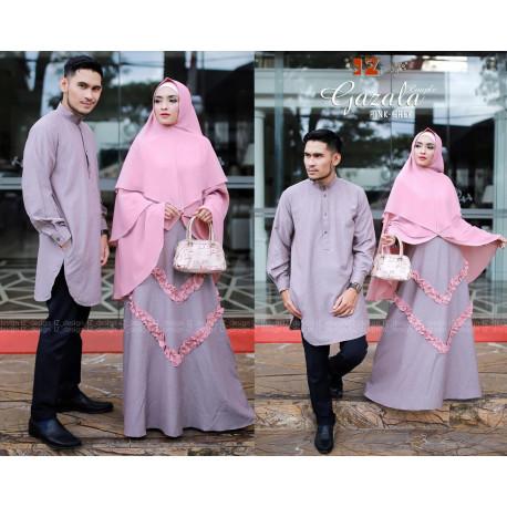 Gazala Couple Pink Grey