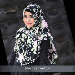 Jilbab Siria Wardah Black