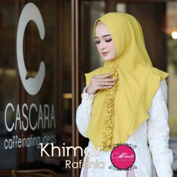 Khimar Rafina Kuning Lime