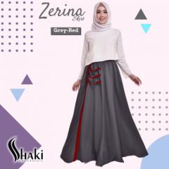 Zerina Skirt Grey Red