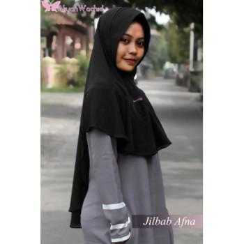 Jilbab Afna Black