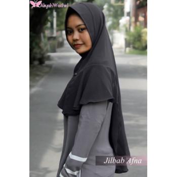 Jilbab Afna Grey