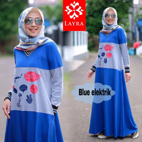 Kayla Dress Blue Elektrik