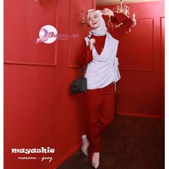 Mayashie Maroon Grey
