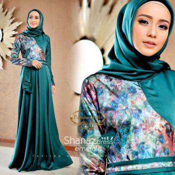 Shanaz Dress Emerald Blue