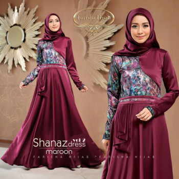 Shanaz Dress Maroon