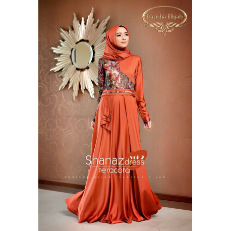 Shanaz Dress Terracota
