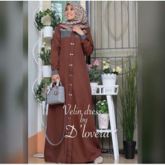 Velin Dress Brown