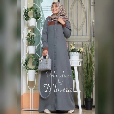 Velin Dress Grey