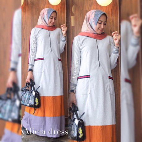 Alicia Dress Broken White