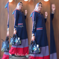 Alicia Dress Navy