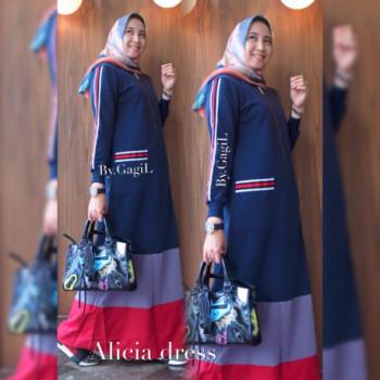 Alicia Dress Navy
