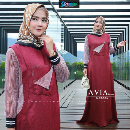 Avia Dress Maroon