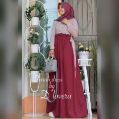 Farah Dress Maroon