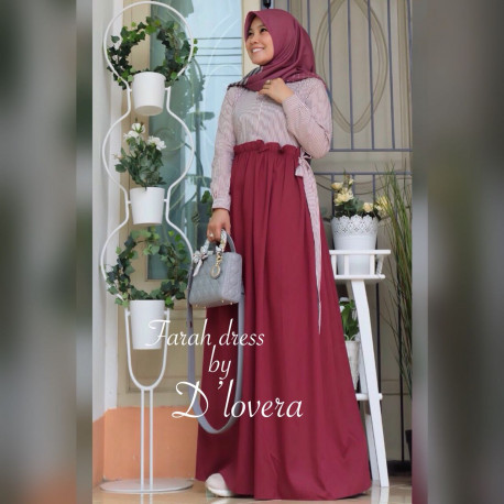 Farah Dress Maroon