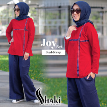 Joy Casual Red Navy