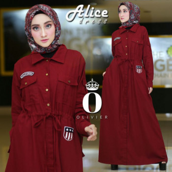 Alice Dress Maroon