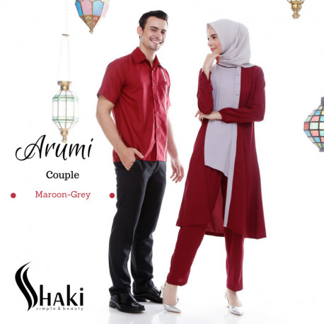 Arumi Couple Maroon Grey