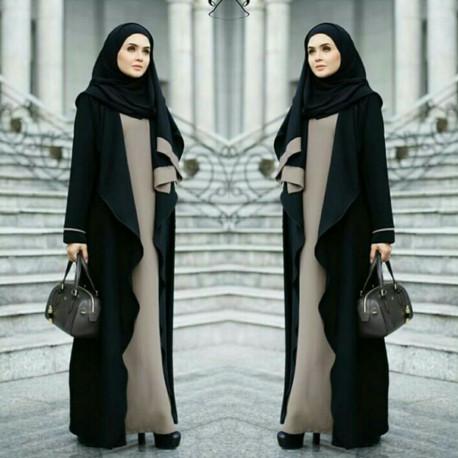 Fatimah Abaya Black Choco