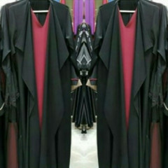 Fatimah Abaya Black Red