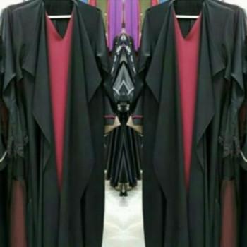 Fatimah Abaya Black Red