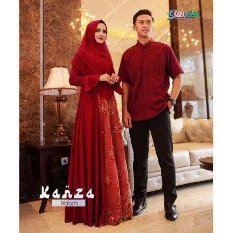 Kanza Couple Maroon