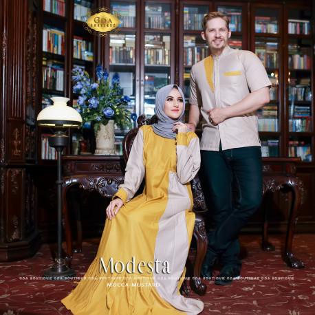 Modesta Couple Mustard