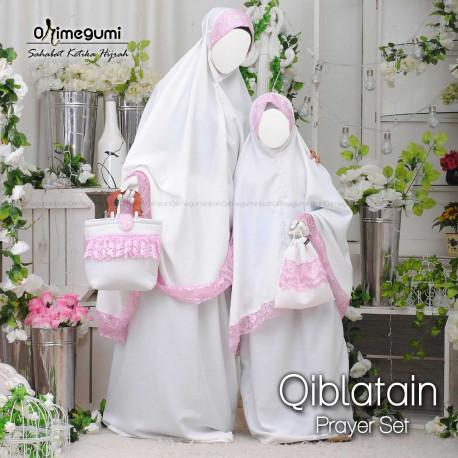 Mukena Qiblatain BW Pink