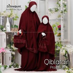 Mukena Qiblatain Maroon