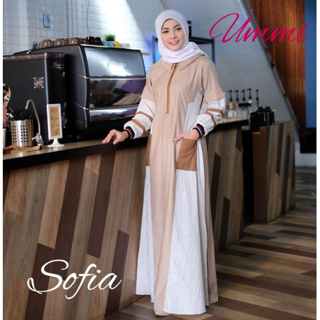 Sofia Dress Coklat Susu