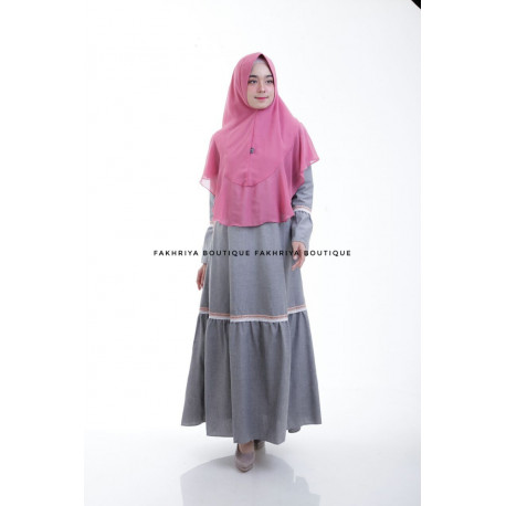 Syahlaa Dress Grey