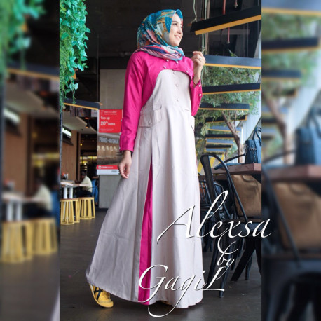 Alexsa Casual Pink Grey