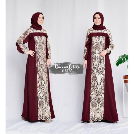 Cetta Dress Maroon