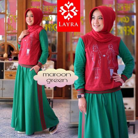 Gea set 2 Maroon Green