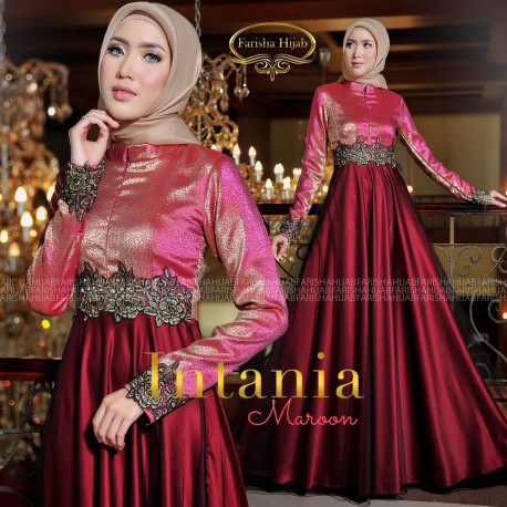 Intania Dress Maroon