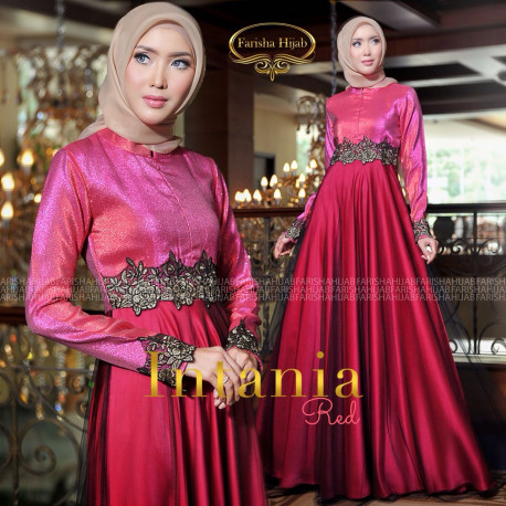 Intania Dress Red