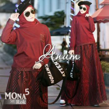 Mona Set 5 Maroon