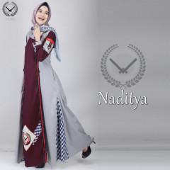 Naditya Grey Maroon