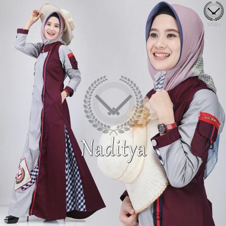 Naditya Maroon Grey