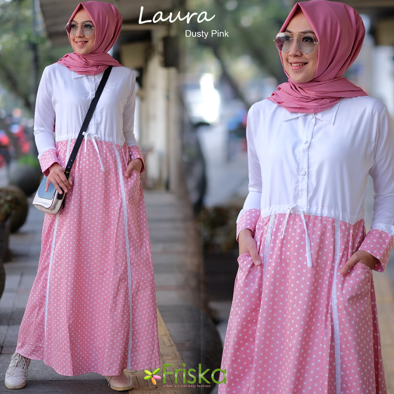 Laura By Friska Dusty Pink