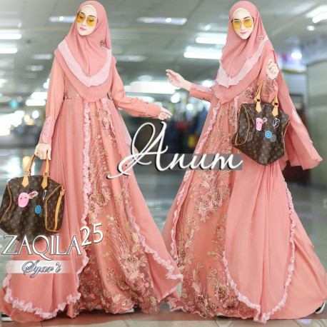 Zaqila Dress Salmon