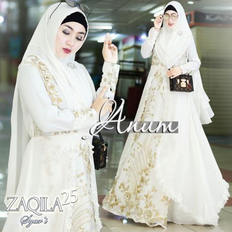 Zaqila Dress White