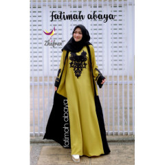 Abaya Fatimah Lime