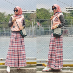 Kamara Peach Dark Grey