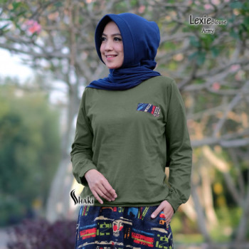 Lexie Blouse Army